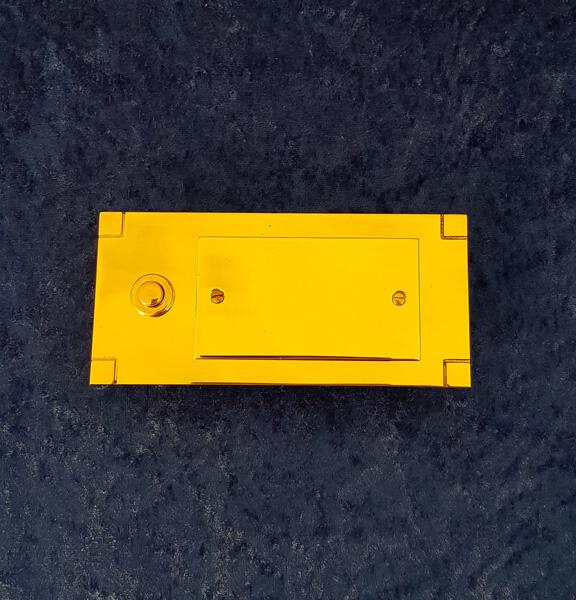 Klingel K12 Montageplatte - Messing-Zawadski