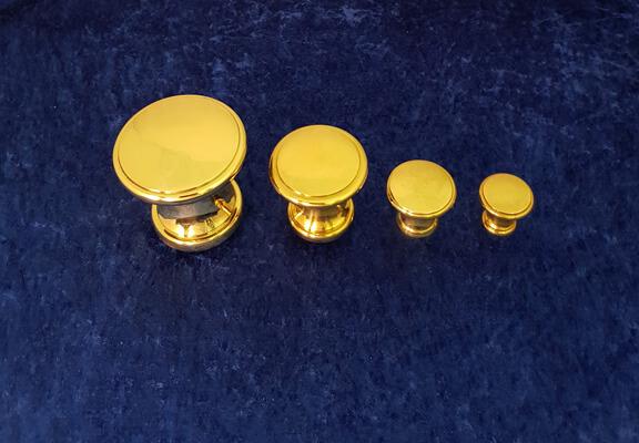 Knäufe KN16 in verschiedenen Größen - Messing-Zawadski