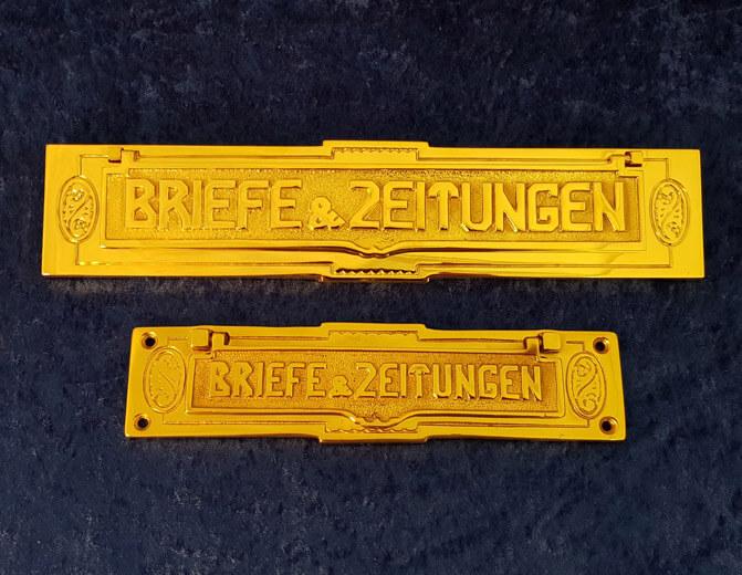 Briefeinwürfe und Hauben - Produkte von Messing-Zawadski