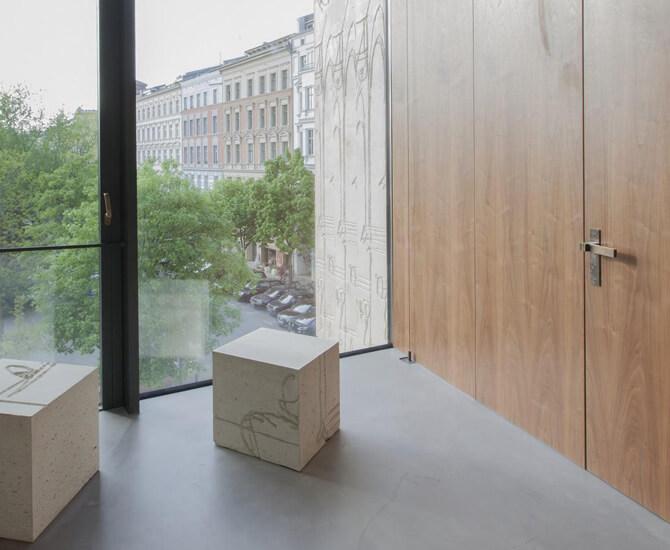 Referenz eines Innentürbeschlags von Messing-Zawadski in einem Museum