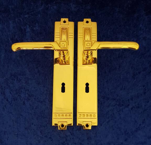 Zimmertürgarnitur T16 M - Messing-Zawadski