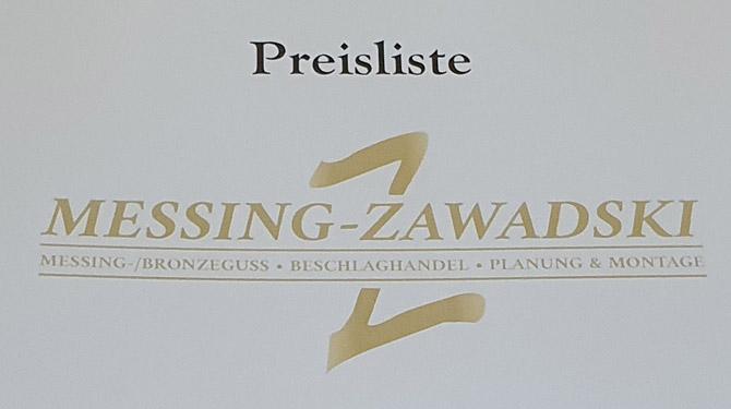 Preisliste - Messing-Zawadski